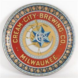 Cream City Serving Tray, Milwaukee WI. Circa 1910