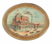 CONSUMERS BREWING CO, NEW ORLEANS, LA.  METAL SERVING TRAY.  Ca. 1910