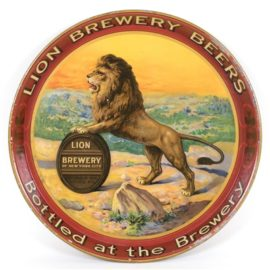Lion Brewery Serving Tray, New York City, N.Y. Circa 1915