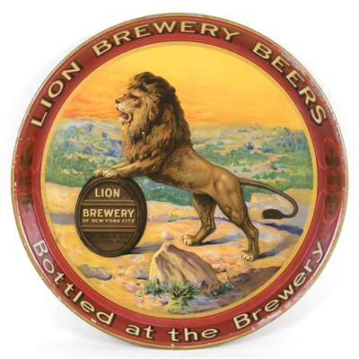 Lion Brewery Serving Tray, New York City, N.Y. Circa 1915
