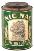 NIC NAC CHEWING TOBACCO STORE DISPLAY COUNTER TIN.  Circa 1920