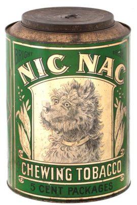 Nic Nac Chewing Tobacco Tin