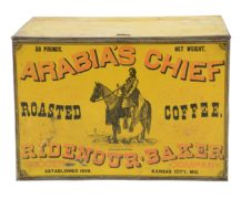 ARABIA'S CHIEF ROASTED COFFEE BIN, RIDENOUR-BAKERY, K.C., MO. Ca. 1900