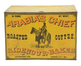 Arabia's Chief Coffee Bin, Ridenour Bakery, Kansas City, MO. Ca. 1900