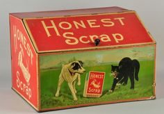 Honest Scrap Tobacco Tin, W. Duke, Sons Co., Durham, N.C.
