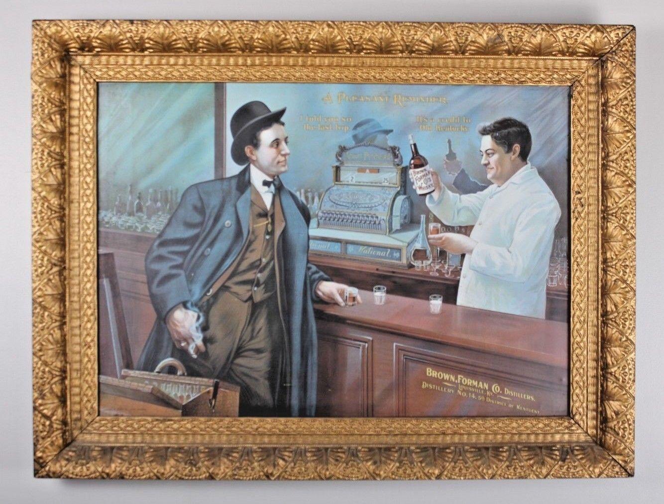 Brown-Forman Co., Distillers, Louisville, KY Sign, Pre-Pre ca. 1900