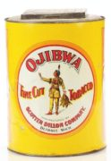 OJIBWA FINE CUT TOBACCO CAN, SCOTTEN DILLON COMPANY, DETROIT, MI. Ca. 1920