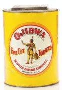 OJIBWA FINE CUT TOBACCO CAN, SCOTTEN DILLON COMPANY, DETROIT, MI. Ca. 1920