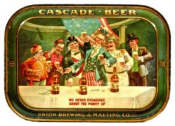 UNION BREWING & MALTING CO, SAN FRANCISCO, CA.  SERVING TRAY, Ca. 1915