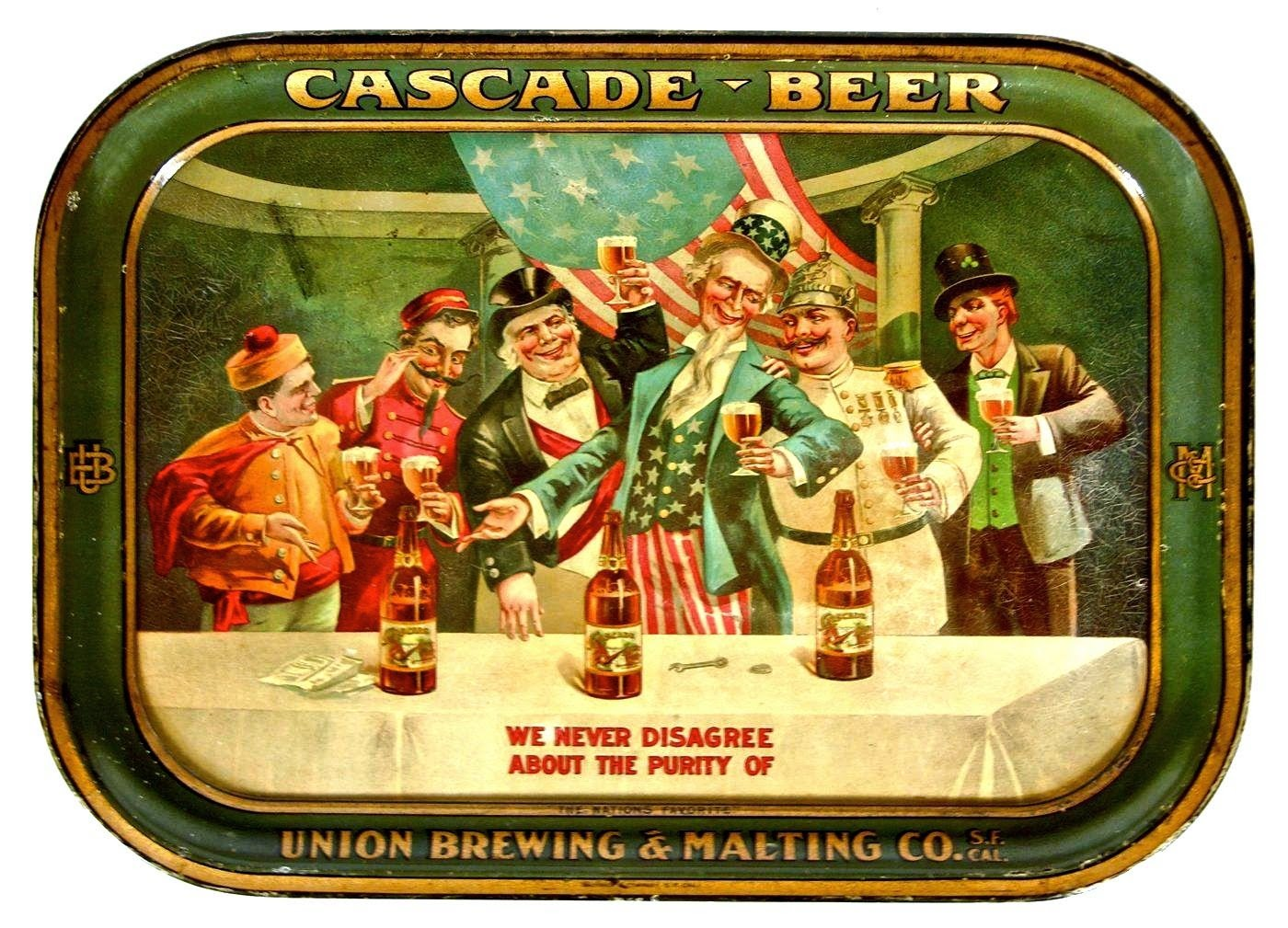 Union Brewing & Malting Co, San Francisco, CA Serving Tray