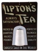 LIPTON TEA TIN SIGN, Circa 1910