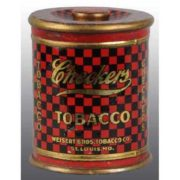 CHECKERS TOBACCO TIN, WEISERT BROS. TOBACCO CO., ST. LOUIS, MO