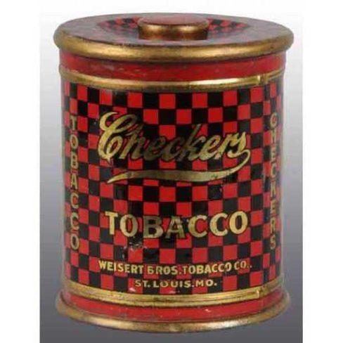 Checkers Tobacco Tin, Weisert Tobacco Co., St. Louis, MO. Circa 1930s