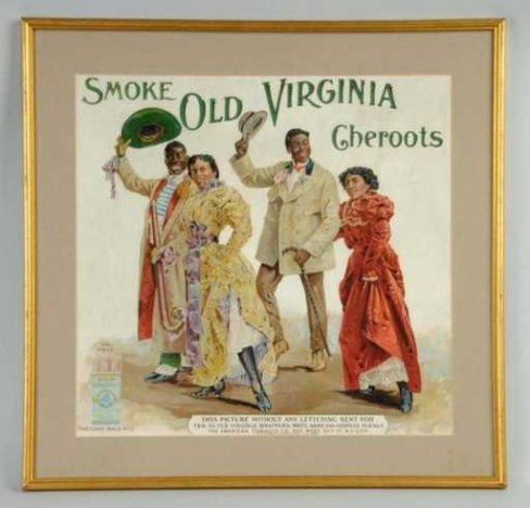 Old Virginia Cheroots Tobacco Sign. Circa 1920's
