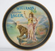 WIELAND'S BREWERY SERVING TRAY, SAN FRANCISCO, CA.   Circa 1915