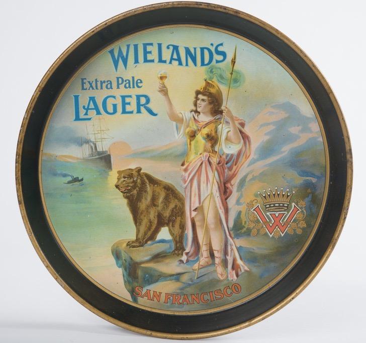 Wieland's Brewery Lager Beer Tray, San Francisco, CA. Circa 1915