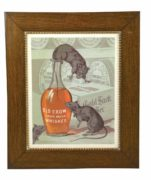 OLD CROW SOUR MASH WHISKEY TIN SIGN, W.A. GAINES & CO., Ca. 1905