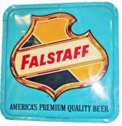 FALSTAFF BEER OUTDOOR TIN SIGN, FALSTAFF BREWING CO., Ca. 1950's