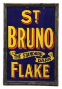 ST. BRUNO STANDARD FLAKE TOBACCO SIGN, DUBLIN, IRELAND. Ca. 1920