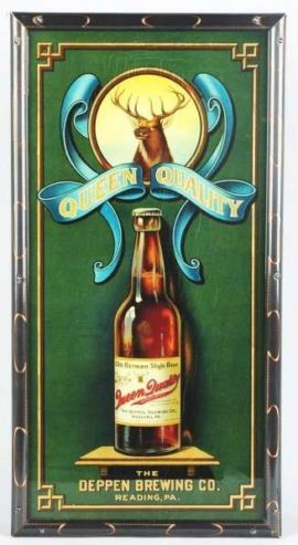 Deppen Brewing Co, Reading, PA Corner Sign ROG. Circa 1915