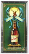 DEPPEN BREWING COMPANY REVERSE ON GLASS CORNER SIGN, READING, PA.  Ca. 1915