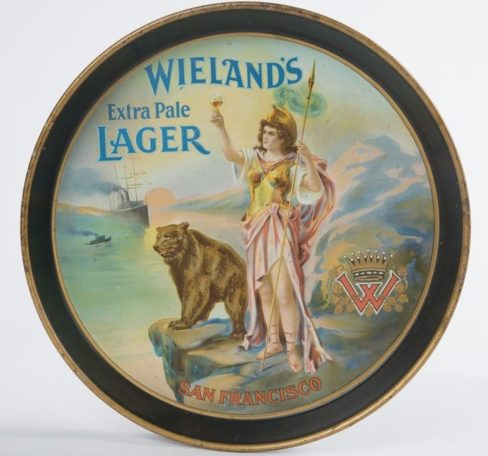 Wieland's Extra Pale Lager Beer, San Francisco, CA Brewery Serving Tray