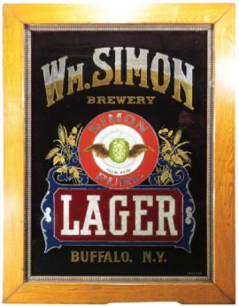 Wm. Simon Brewery, ROG Sign, Simon Pure Beer, Buffalo, N.Y.