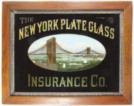 New York Plate Glass Insurance Company, ROG Sign, New York, N.Y., Circa 1890