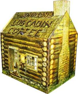 Johnson-Layne Coffee Company, Log Cabin Store Bin, St. Louis, MO. Circa 1910
