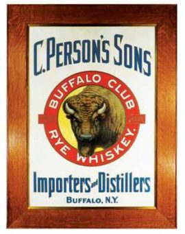 C. Person's Sons Buffalo Club Whiskey Sign, Buffalo, N.Y., Circa 1905