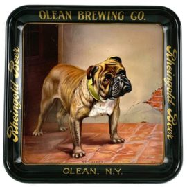 Rheingold Beer, Olean, N.Y. Brewing Tray, Ca 1900