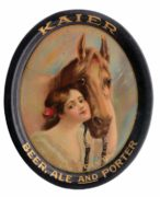 KAIER BREWERY BEER PORTER ALE SERVING TRAY, MAHANOY CITY, PA.  Ca. 1910