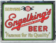 ENGELKING'S PILSENER BEER LIGHTED BEER SIGN, SPRINGFIELD, IL.  Ca. 1935