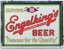 Engelking's Pilsener Style Beer ROG Light Up Sign, Springfield, IL. Ca. 1935