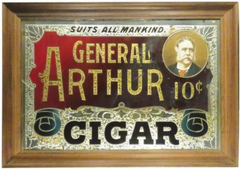 General Arthur 10ct. Cigar, United Cigar Manufacturers, New York City, N.Y., ROG Sign. Ca. 1895