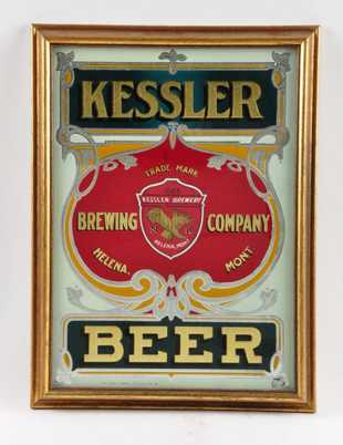 Kessler Brewing Co., Beer ROG Sign, Helena, MT. Ca. 1900