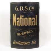 NATIONAL BREWERY TIN CORNER SIGN, BALTIMORE, MD.  Ca. 1900
