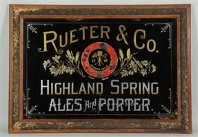 Rueter and Co ROG Sign Porter Ale, Boston, MA. Ca. 1900