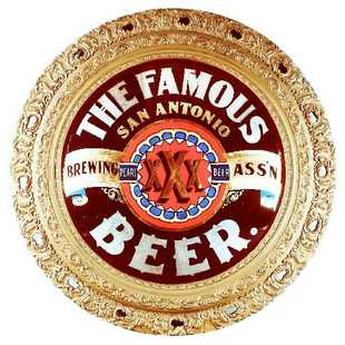 San Antonio TX Brewing Ass'n ROG Beer Gesso Frame. Circa 1900