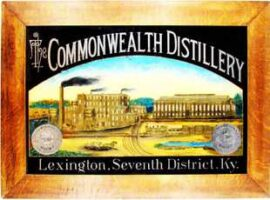 The Commonwealth Distillery, ROG Sign, Lexington, KY. Circa 1900