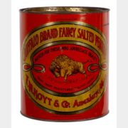 BUFFALO BRAND SALTED PEANUT TIN CAN, F.M. HOYT CO., AMESBURY, MA.  Circa 1920