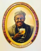 M. K. Goetz Brewing Co., Jerry's Smile Self-Framed Tin Sign, St. Joseph, MO.  Circa 1910
