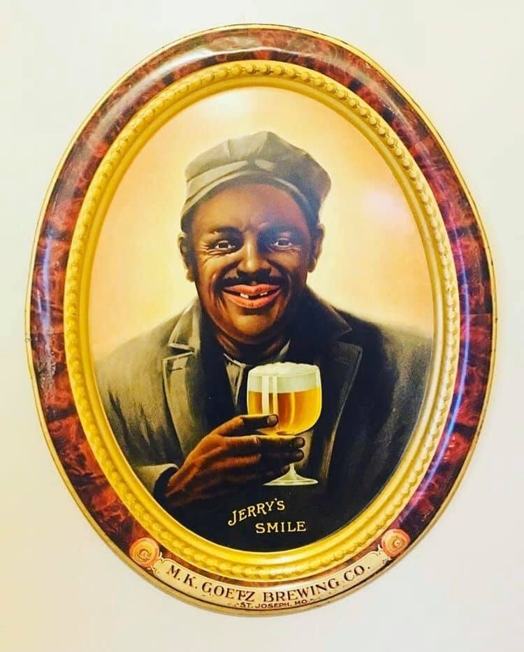 M.K. Goetz Brewing Company, Serving Tray, St. Joseph, MO. Circa 1910