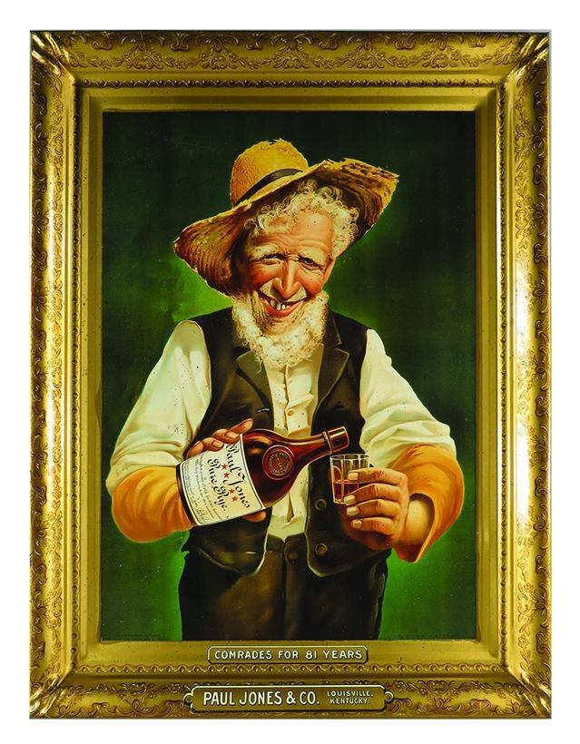 Paul Jones & Co., Self Framed Tin Sign, Louisville KY. Circa 1910