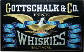 Gottschalk & Co. Fine Whiskies ROG Sign, Baltimore, MD. Circa 1900