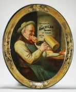 AMERICAN BREWING COMPANY OF PEKIN, IL SERVING TRAY.  Circa 1910