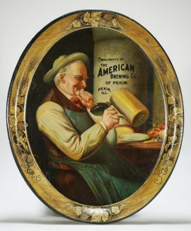 The American Brewing Co, Pekin, IL Serving Tray. Circa 1910