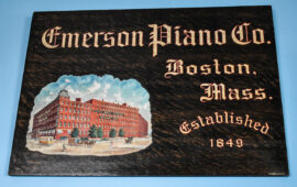 Emerson Piano Co., Meyercord Sign, Boston, MA. Circa 1900