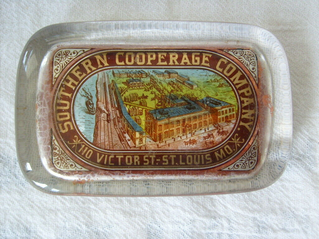 Southern Cooperage Company, Paperweight, St. Louis, MO. Ca. 1900