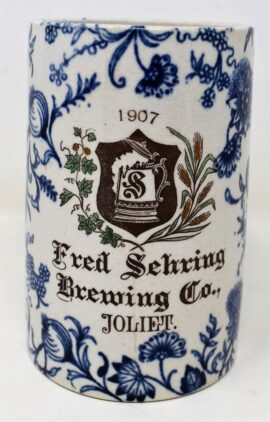 Fred Sehring Brewing Co., Beer Mug. Joliet, IL. 1907